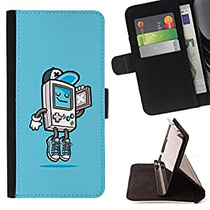 For Apple iPod Touch 6 6th Generation Gaming Console Gamer Boy Cool Kid Style PU Leather Case Wallet Flip Stand Flap Closure Cover