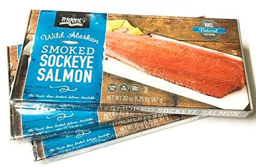 (Trident Wild Alaskan Smoked Sockeye Salmon - 567g/20 Oz)