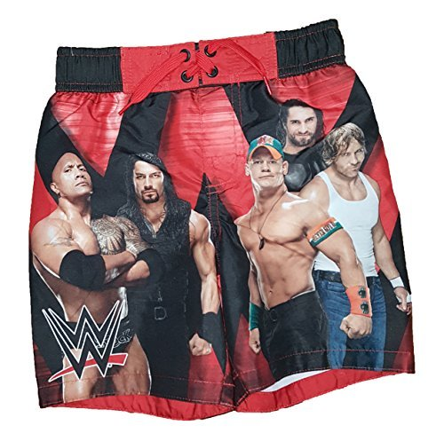 WWE The Rock John Cena Swim Trunk, Black (X-Small 4/5) by Dreamwave