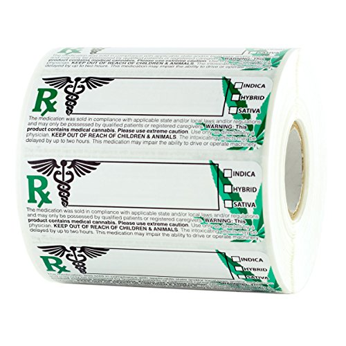 Dragon Chewer Generic Medical Cannabis Strain Labels - State Compliant Medical Marijuana Stickers - 1,000 pc Roll