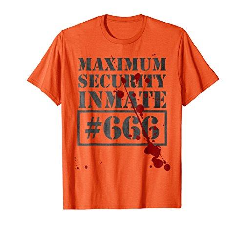 Mens Maximum Security Inmate Prisoner Costume T-Shirt Funny