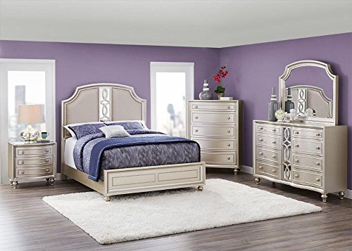 Platinum 6 Pc. King Bedroom Furniture Set by THE ROOMPLACE