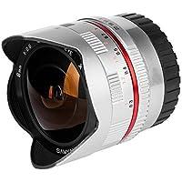 Samyang 8mm Fisheye F2.8 Manual Focus Lens for Fuji X - Silver