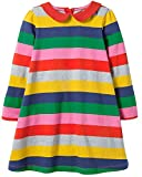 Toddler Girl Cute Cotton Long Sleeve Tunic Dresses Multi Stripe Size 6t