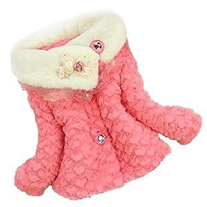 Koly Baby Girls Kids Toddler Floral Outwear Clothes Winter Jacket Coat Snowsuit