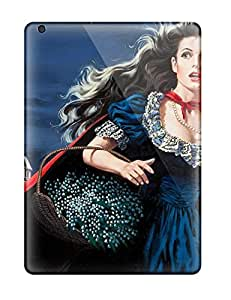 Ipad Air Case Cover With Shock Absorbent Protective Girl With The Red Cape Case