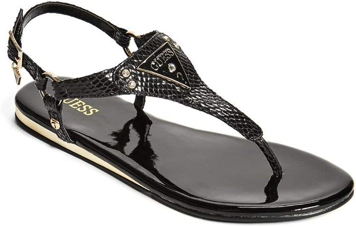 fb3e45fe521ca GUESS Factory Women's Carmela T-Strap Sandals - Amazon Mỹ | Fado.vn