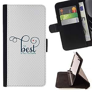 For Samsung Galaxy S3 III i9300 i747 Case , Buena Mejor Mejor motivación de la cita- la tarjeta de Crédito Slots PU Funda de cuero Monedero caso cubierta de piel