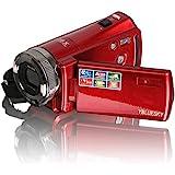 YBLUESKY HDMI 720p 2.7 Inch TFT LCD Rotation Digital Video Camcorder Max 16.0 Mega Pixels 16X Zoom Camera DV Video Recorder+Red
