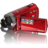 YBLUESKY HDMI 720p 2.7 Inch TFT LCD Rotation Digital Video Camcorder Max 16.0 Mega Pixels 16X Zoom Camera DV Video Recorder+Red