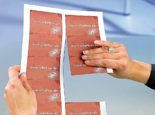 Sattleford Visitenkarten gestanzt: 250 Visitenkarten, microperforiert, Inkjet & Laser, 250 g/m², 85 x 54 (Vorgestanzte Visitenkarten)