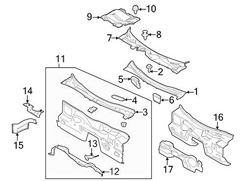 Ford Oem Cowl Plenum Panel Fr3z6302012a Image 1