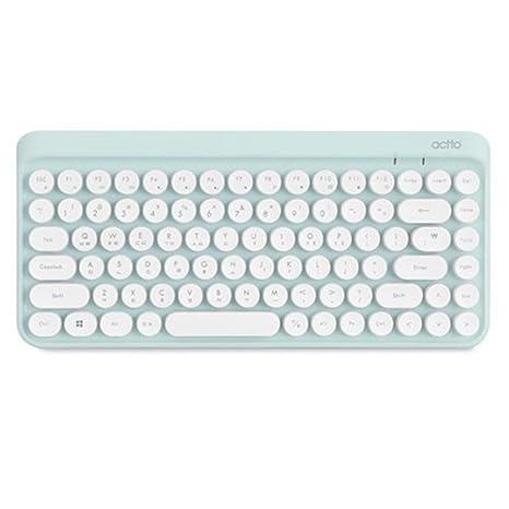 Amazon.com: ACTTO Retro Mini Wireless Bluetooth Keyboard BTK-01 - Retro Classic Design (Sky Blue): Computers & Accessories