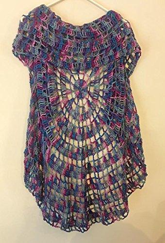 Amazoncom Womens Crochet Boho Circle Vest Size Small Medium Handmade
