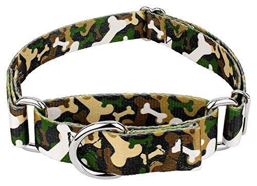 - Country Brook Petz | Woodland Bone Camo Martingale Dog Collar - Large