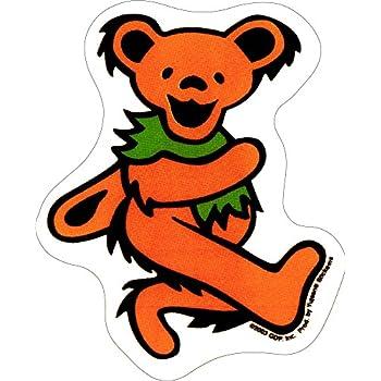 Amazon Com Grateful Dead Small Orange Dancing Bear