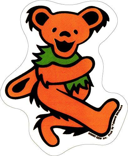 Grateful Dead - Small Orange Dancing Bear - Sticker / Decal