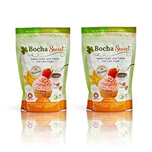 BochaSweet Sugar Substitute, 2 LB | The Supreme Sugar Replacement (Pack of 2)