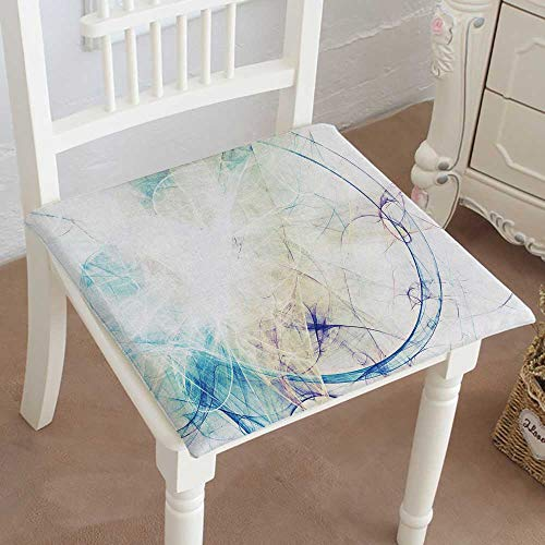 "Mikihome Premium Comfort Seat Cushion Blue Smoke Motion on White Bright Dynamic Background for Wallpaper Cushion for Office Chair Car Seat Cushion 22""x22""x2pcs"