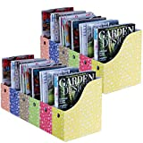 Evelots Set of 12 Magazine File Holder Storage Organizer W/Labels, Floral