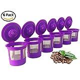 6 Reusable Coffee Filters For Keurig 2.0 and 1.0 Brewers Fits K200, K300/K350, K400/K450/K460, K500/K550/K560
