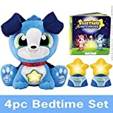 Starshine Watchdogs Plush 4pc Set, Overcome Fear of the Dark w/ this Talking Stuffed Animal Bedtime Toy w/ Remote Control Nightlights for kids! (available in Pink & Blue) warranty here only
