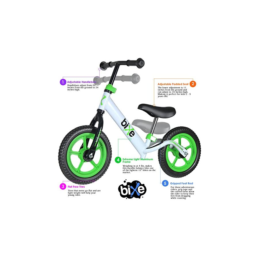 Bixe Extreme Light (4 lb) Balance Bike for Kids and Toddlers 18 Months to 5 Years