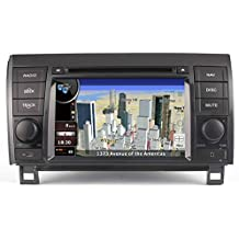 2007-2013 Toyota Tundra In-Dash GPS Navigation DVD Player Bluetooth A2DP Audio Streaming 7 Inch Touchscreen FM AM Radio USB SD Stereo Virtual 6-Disc CD Changer Deck Multimedia AV Receiver Head Unit