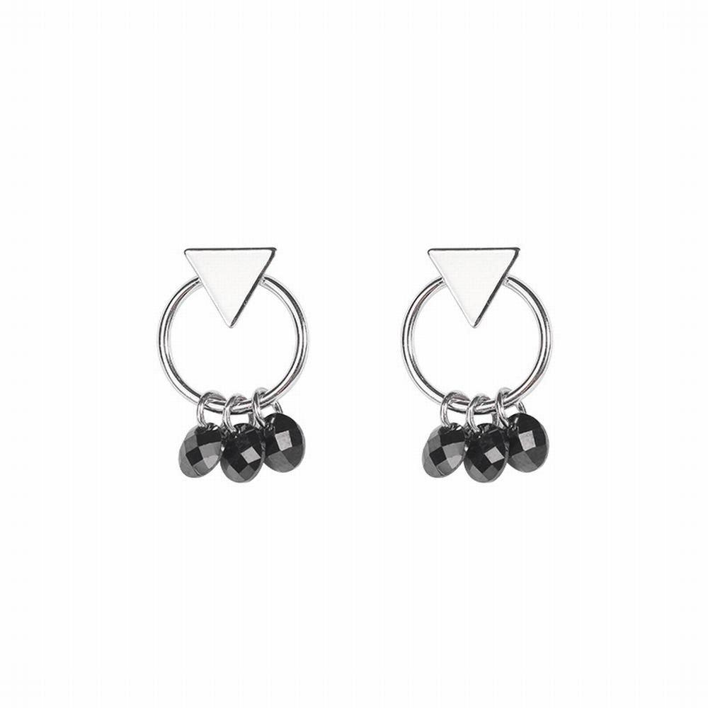 Ling Studs Earrings Hypoallergenic Cartilage Ear Piercing Simple Fashion Earrings Ear Jewelry Earrings Geometric Short Hair Earrings Black