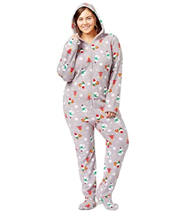 2f2e3ce556f63 FAMILY PJS-MMG Family Pajamas Plus Size Holiday-Printed Footed ...