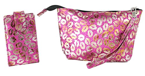 LipStick Carrying Case Combo, 1 Mirrored Pouch that holds 4