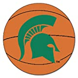 Fanmats NCAA Michigan State University Spartans Nylon Face Basketball Rug