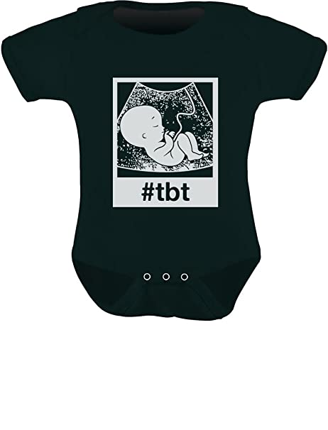 90a492c97b  TBT Funny Infant One-Piece Throwback Thursday Ultrasound Baby Bodysuit  Newborn Black