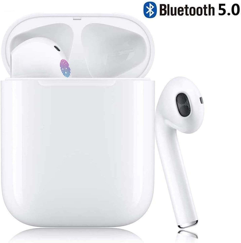 2020 Nuevos Auriculares inalámbricos Bluetooth Touch Control con conexión automática Compatible con iOS/Android/Mac-(I7)