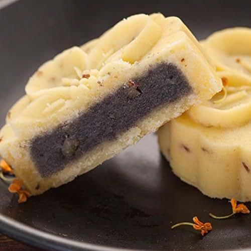 OuYang Hengzhi Hangzhou Local Specialty Traditional Black Sesame Walnut Osmanthus Cake Four Flavors as Dessert Afternoon Tea Match Dian Xin (black sesame osmanthus)