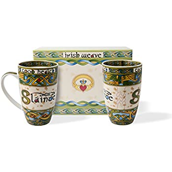Irish Slainte Cup Set of Two With Gift Box