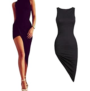 KaloryWee Sexy Women Sleeveless Bandage Bodycon Cocktail Party Long Maxi Dress