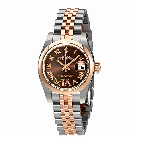 Rolex Lady Datejust Chocolate Diamond Dial Automatic Watch 179161CHRDJ