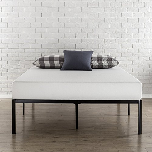 Zinus Van 16 Inch Metal Platform Bed Frame with Steel Slat Support / Mattress Foundation, Queen (Frame Slats Steel Plastic)