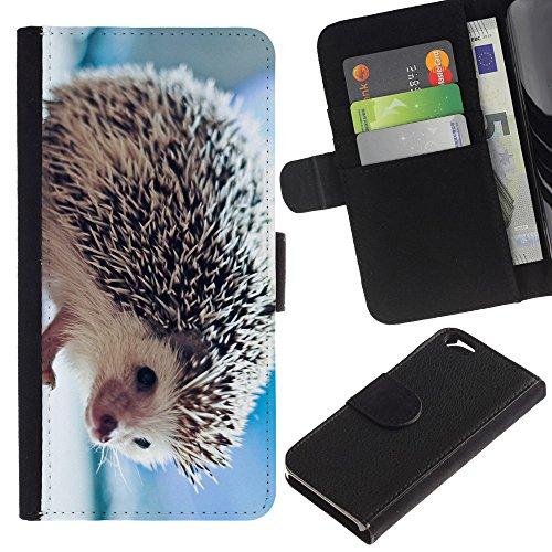 EuroCase - Apple Iphone 6 4.7 - The Friendly Hedgehog - Cuir PU Coverture Shell Armure Coque Coq Cas Etui Housse Case Cover