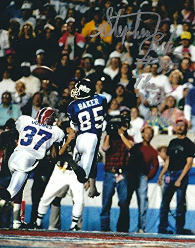 Autographed Stephen Baker New York Giants 8x10 photo - w/COA ()