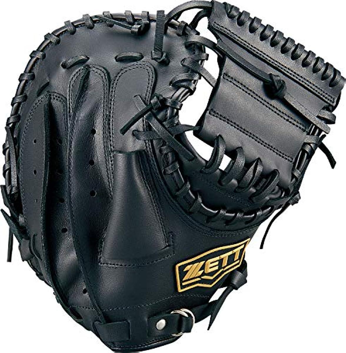[해외] ZETT제트 연식 야구 소프트볼 겸용 라이 텍스 캐쳐 미트 블랙1900 오른쪽 던지기용용 BSCB56912