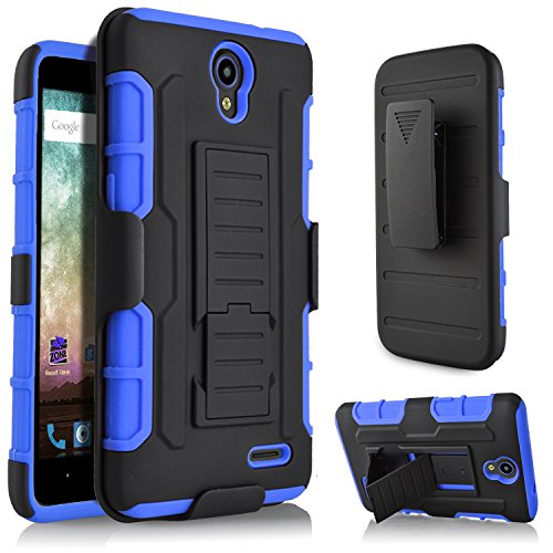 ZTE Zmax Champ Case, ZTE Warp 7 Case, ZTE Grand X3 Case, ZTE Zmax Grand Case, Starshop and Locking Belt Clip