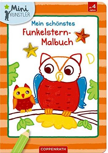 Mein Schönstes Funkelstern Malbuch  Eulen   Mini Künstler