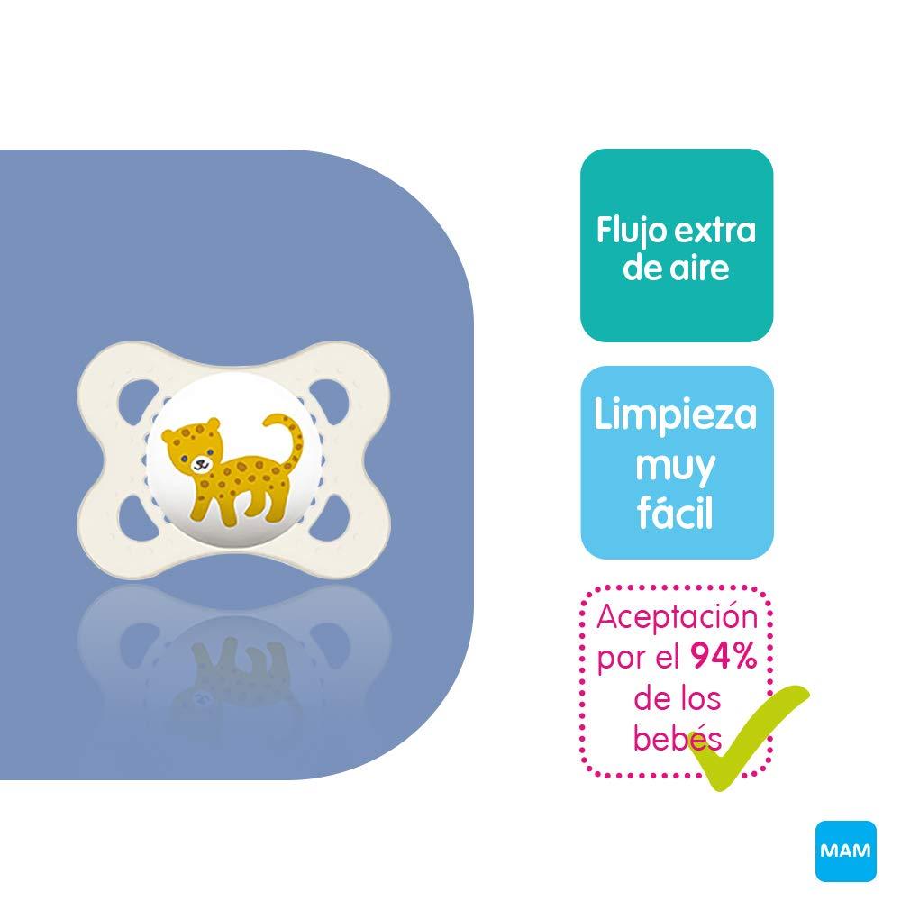 MAM First Steps Set, regalos para bebé (+0), canastilla con 2 biberones anticólicos Easy Start (160/260 ml) y 4 chupetes Original de silicona (2 x ...