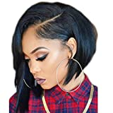 Ten Chopstics 150 Density Brazilian Virgin Straight Human Hair Bob Wig Unprocessed Short Human Hair Lace Front Wigs 13x6 Lace Frontal for Black Women Cheap Glueless Full Lace Wigs