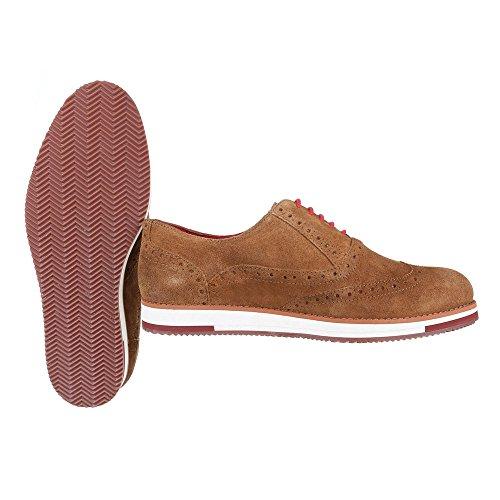 Ital-Design - Mocasines de Piel para hombre marrón claro