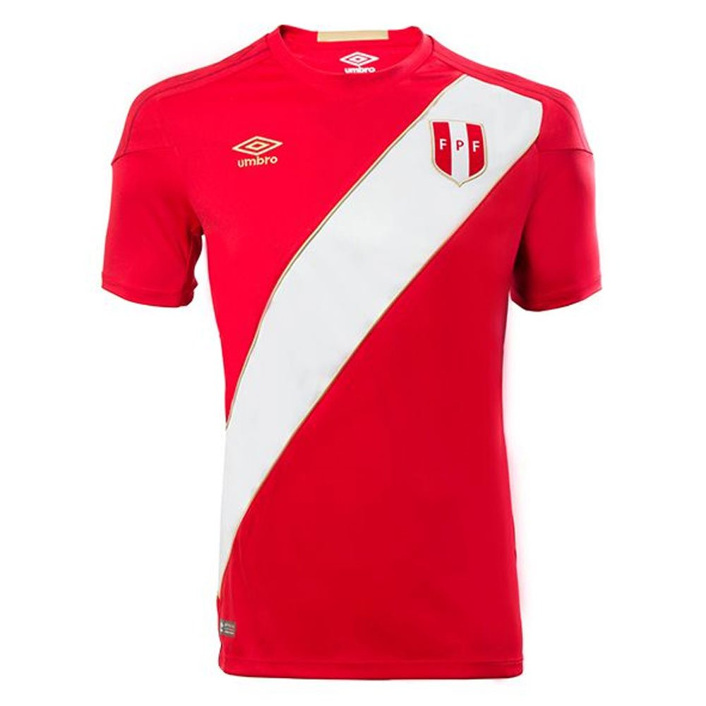 2018-2019 Peru Away Umbro Football Shirt (Kids) B07CVT8QJ1Red Large Boys 30-31\