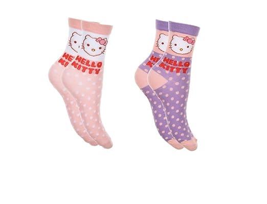 116b915a7de8e 2 paires de chaussettes fille HELLO KITTY  Amazon.fr  Vêtements et ...