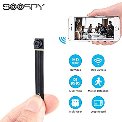 1080P WiFi Hidden Spy Camera-SOOSPY Wireless Portable Mini Security Camera Video Recorder with Motion Detection,App Control for IOS and Android Remote View